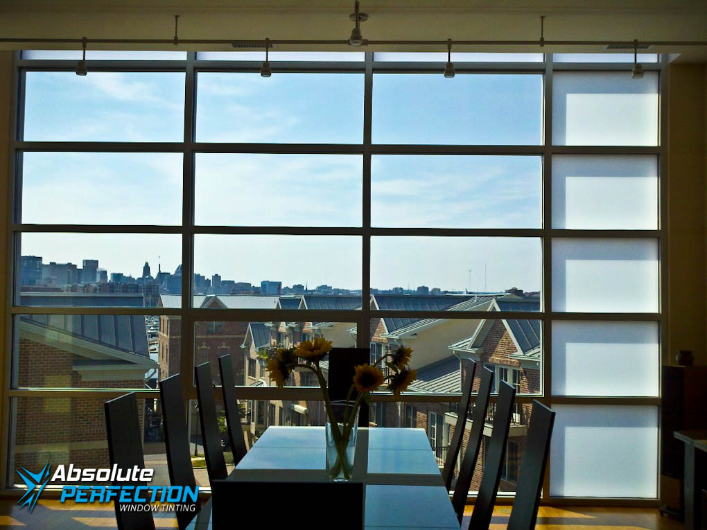 Absolute Perfection Residential UV Protection Window Tint Maryland