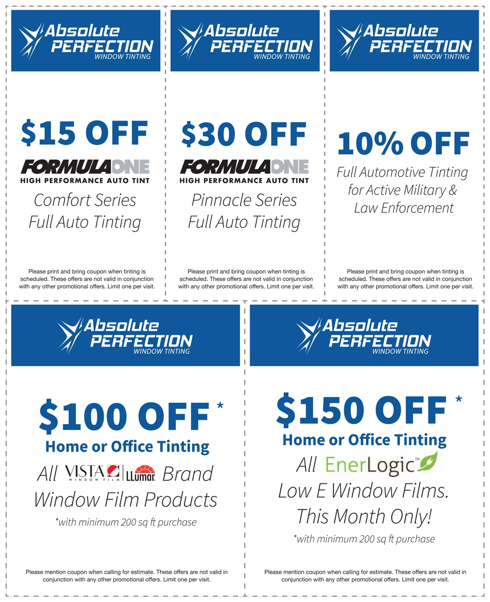 Window Tinting Coupons
