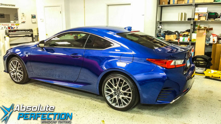 pinnacle window tint lexus rc