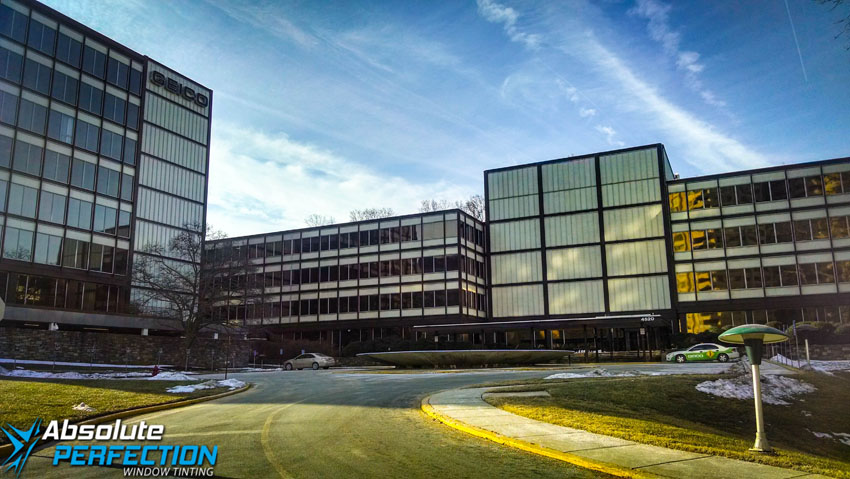 Commercial Office With EnerLogic Low-E Window Film AP Tinting Virginia