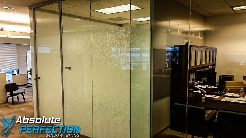 Custom Business Frost Window Design by Absolute Perfection Maryland