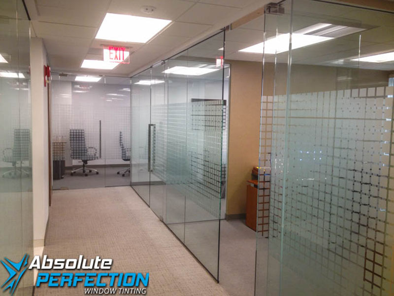 Decorative Frost Window Film for Business by Absolute Perfection Tinting Washington, DC