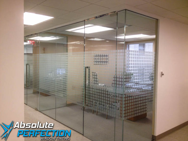 Decorative Frost Window Film for Business by Absolute Perfection Tinting
