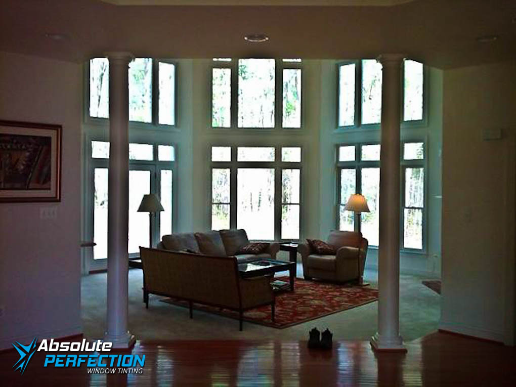 Inside Look of Home UV Protection Window Tint by Absolute Perfection Maryland