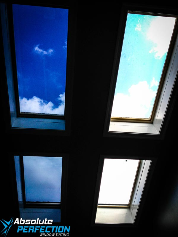 Inside Look of Skylight Window Tint - Absolute Perfection - Hunt Valley Maryland