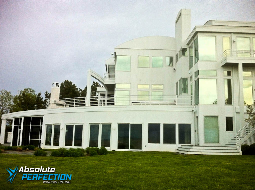 Outside Look of Home Window Tinting for Glare Reduction by Absolute Perfection Tinting Maryland