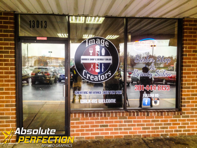 Custom Storefront Window Logos and Lettering