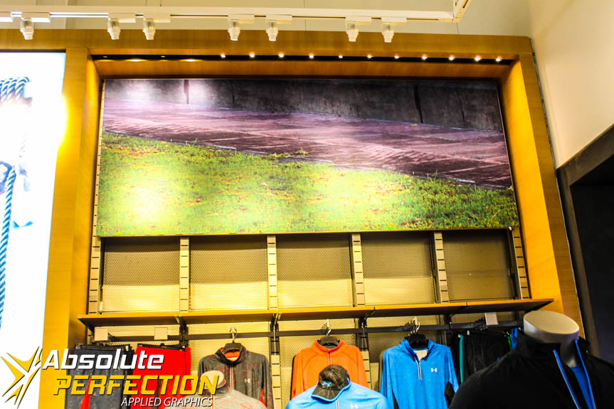Custom Under Armour Store Graphics Baltimore