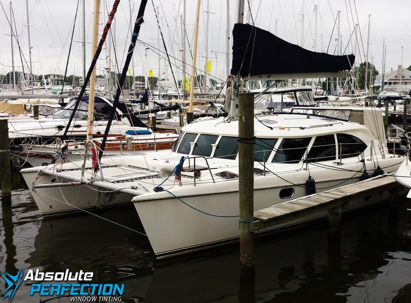 boat window tint - boat window film - boat window tinting - boat tint - window tint for boats - Baltimore Maryland - Annapolis - Washington DC - Chesapeake1