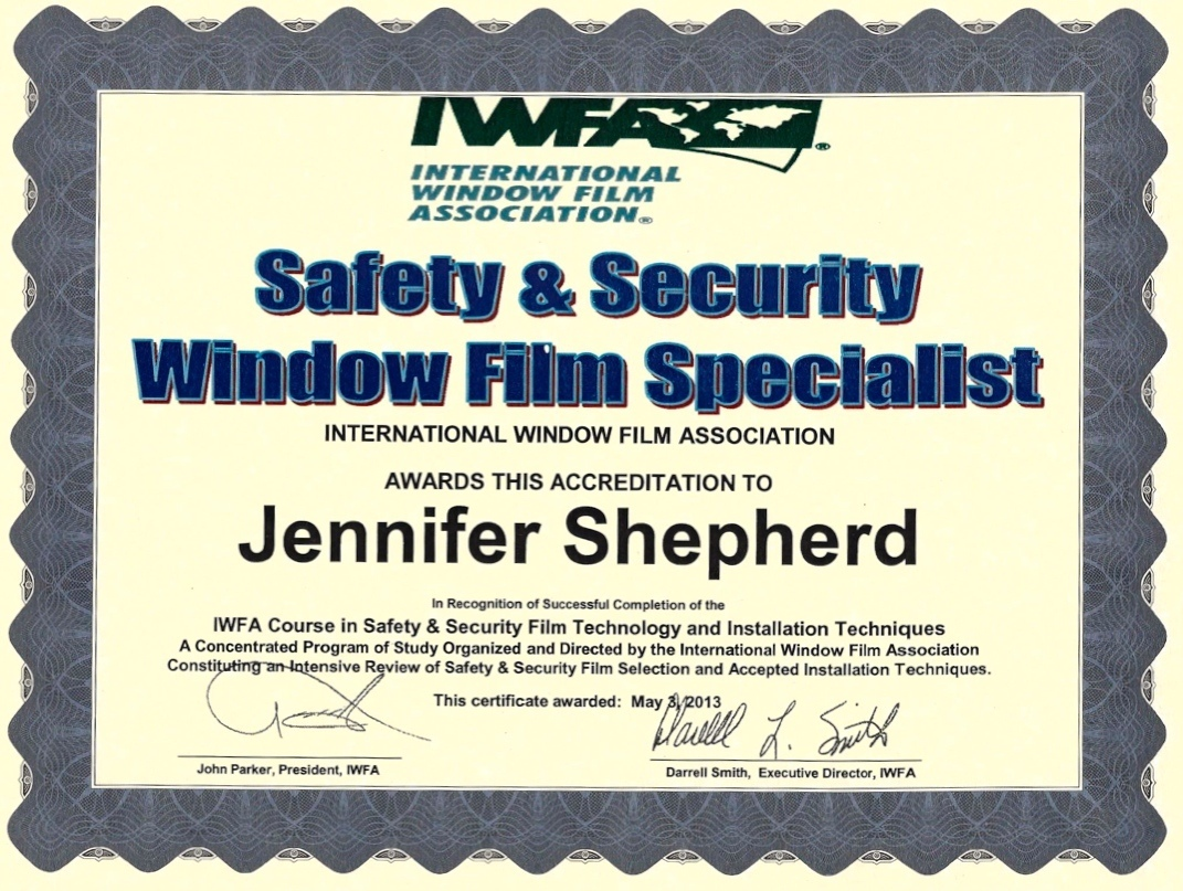 Safety And Security Window Film Specialist Jen Shepherd Ap Tinting