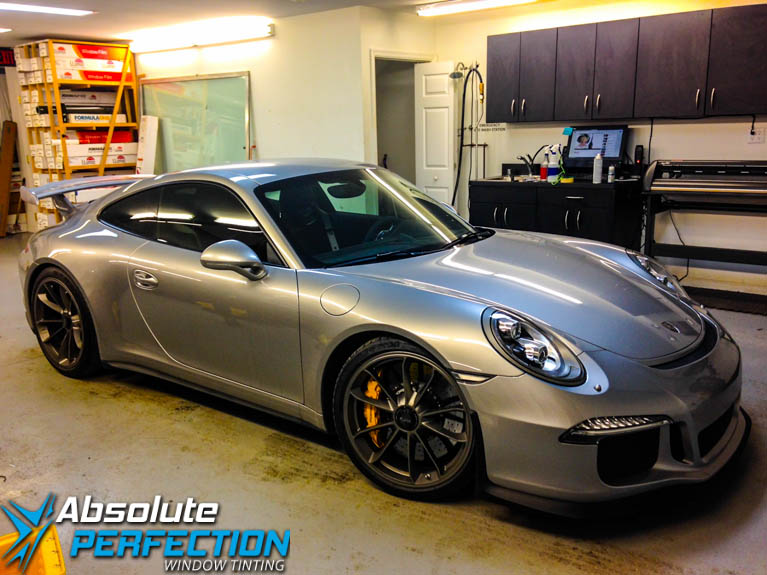Porsche 911 GT FormulaOne Pinnacle Auto Tint