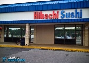 Absolute Perfection Commercial Window Tinting Glare Reduction Washington DC Storefront