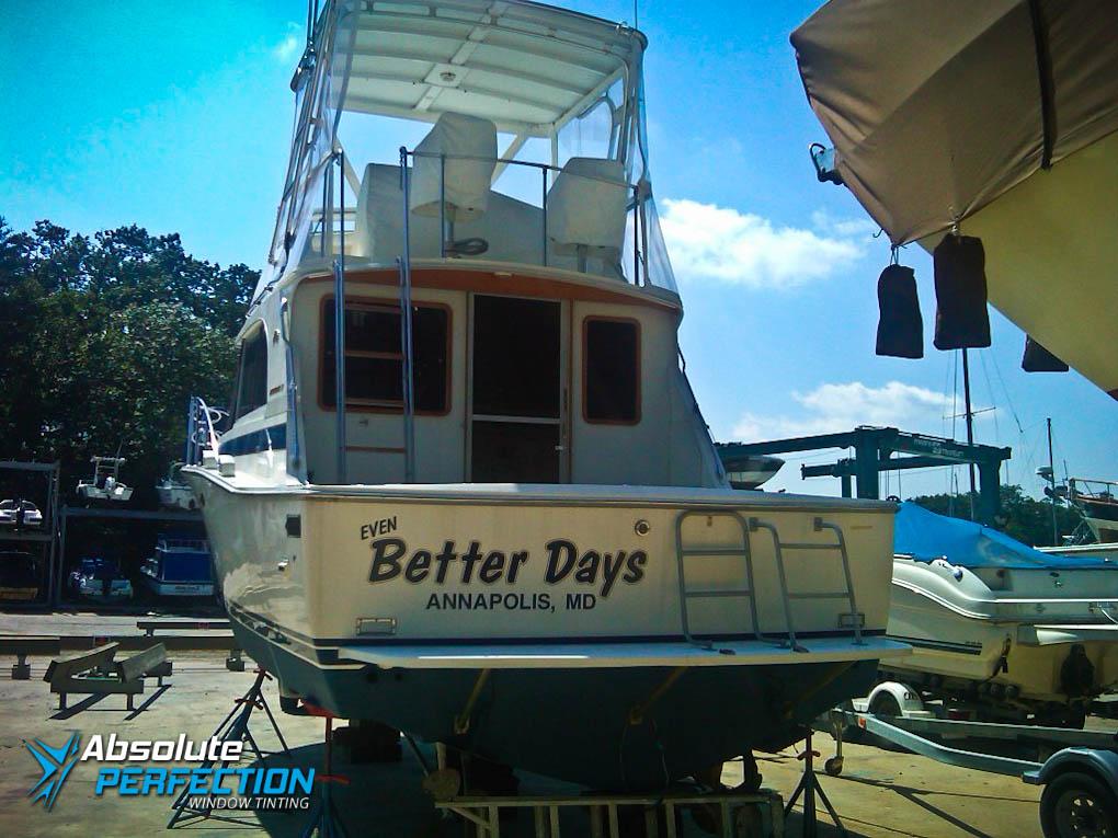 Boat Window Tinting Annapolis Maryland