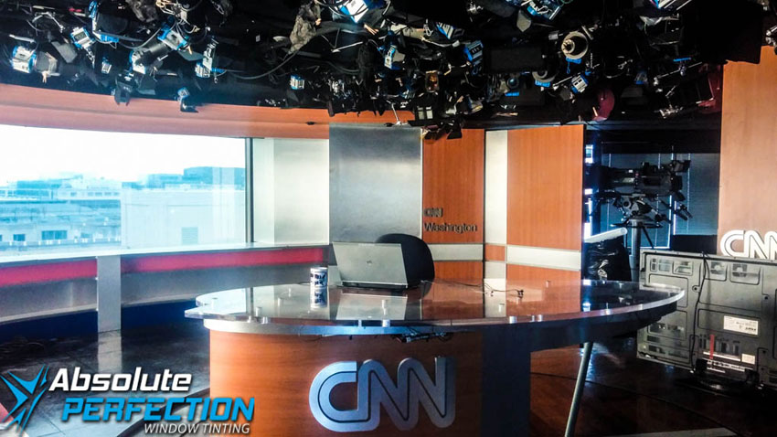 Commercial Heat Reduction Window Tint Absolute Perfection Tinting CNN Washington DC