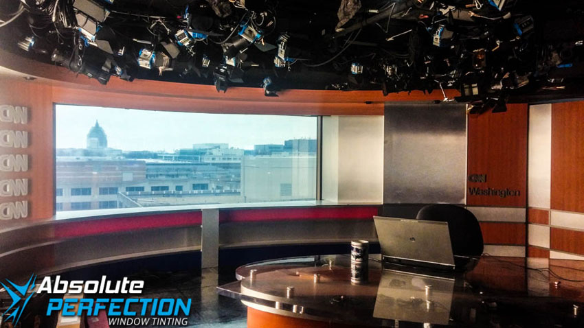 Commercial Heat Reduction Window Tint for CNN Absolute Perfection Tinting Washington DC