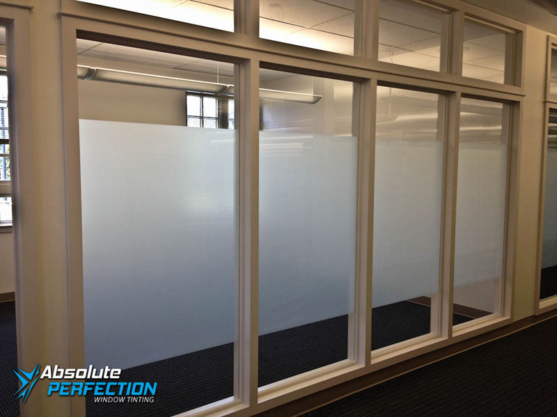 Custom Business Frost Window Design by Absolute Perfection Washington DC