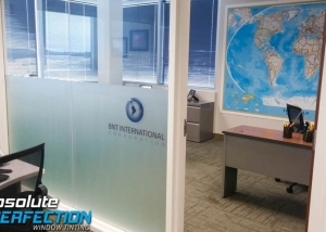 Custom Frost Film for BNT International by Absolute Perfection Tinting