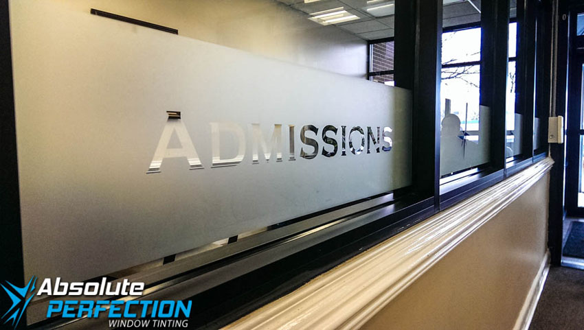 Custom Frost Lettering by Absolute Perfection Tinting