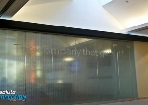 Custom Frosted Design for Business by Absolute Perfection Tinting