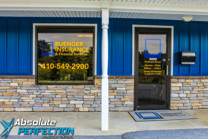 Custom Lettering Design by Absolute Perfection Tinting Sykesville, Maryland