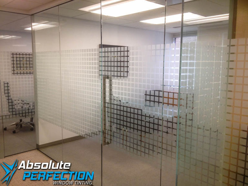 Decorative Frost Window Film for Business by Absolute Perfection Tinting Maryland