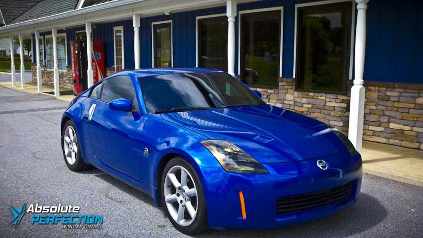 window tint blue 350z