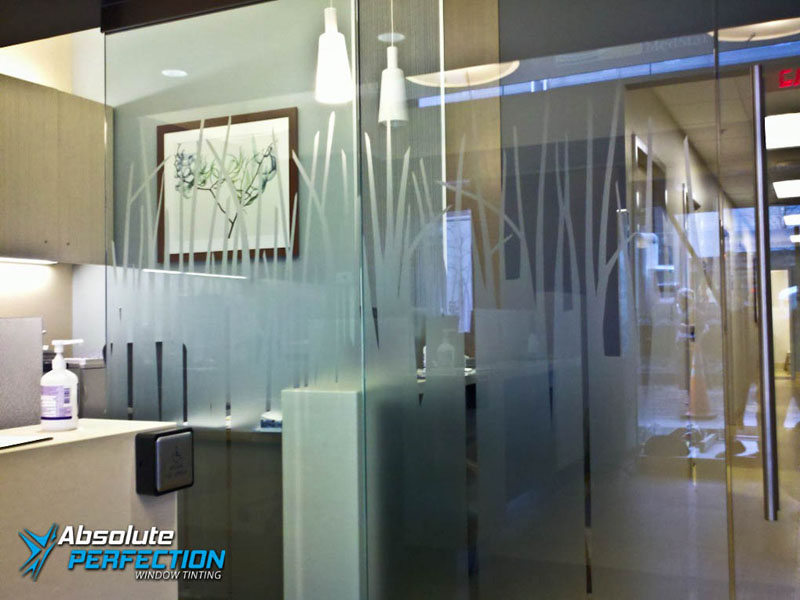 Frosted Glass Design for Business by Absolute Perfection Tinting