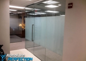 Frosted Window Film for Business by Absolute Perfection Tinting Maryland
