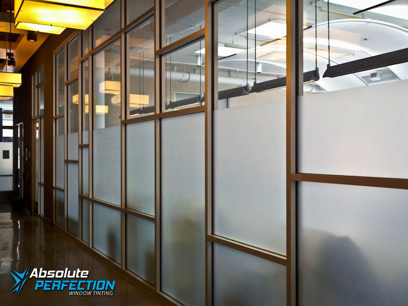 Frosted Window for Business Privacy by Absolute Perfection Tinting Maryland