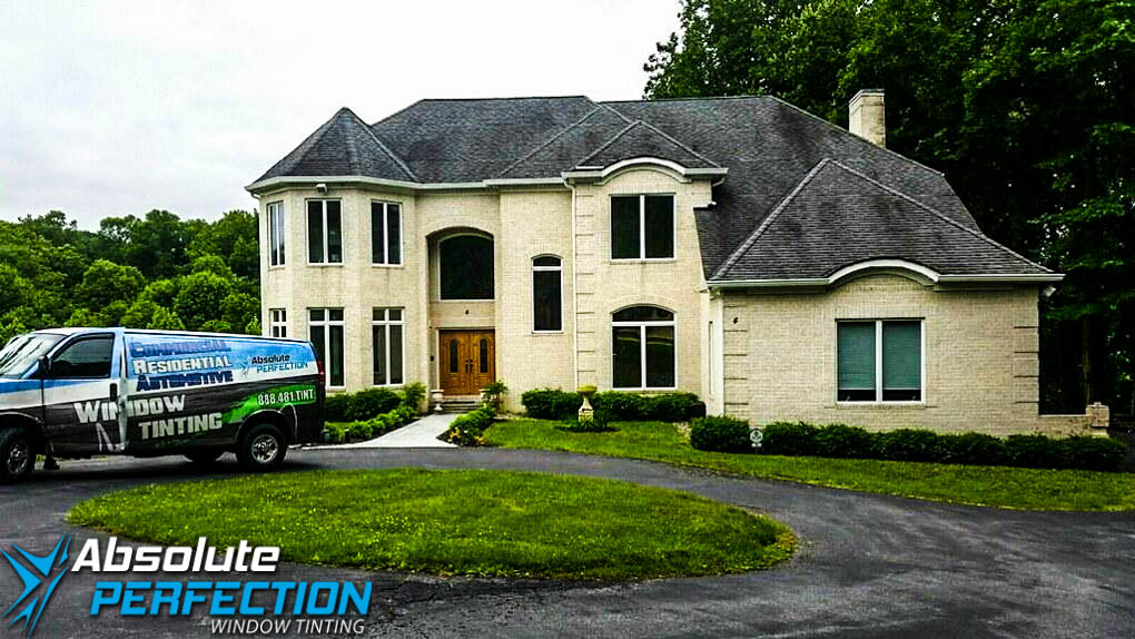 Home Window Tint Absolute Perfection Window Tinting Enerlogic Low-E Sykesville, Maryland