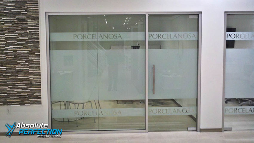 Porcelanosa Custom Logo and Lettering by Absolute Perfection Tinting