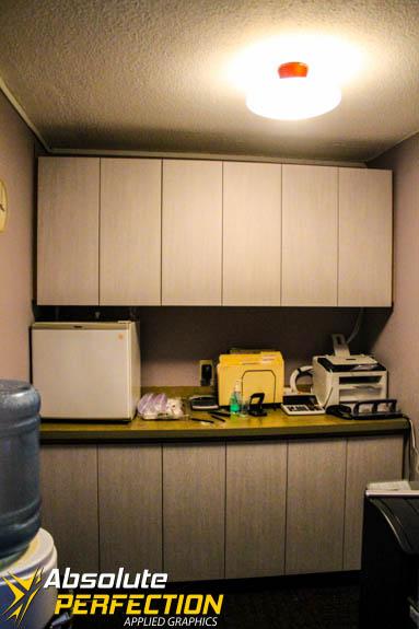 3M Di-Noc Architectural Film Cabinet Installation