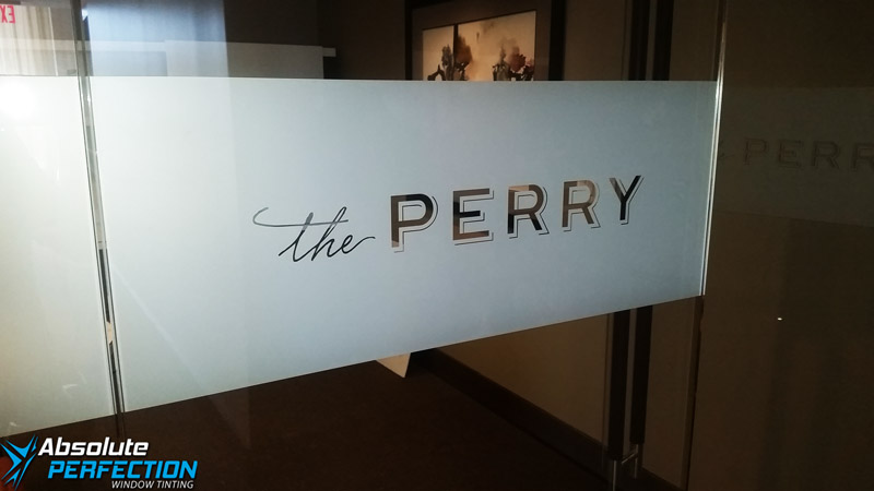 The Perry Frosted Window Film - Absolute Perfection Window Tinting - Baltimore1