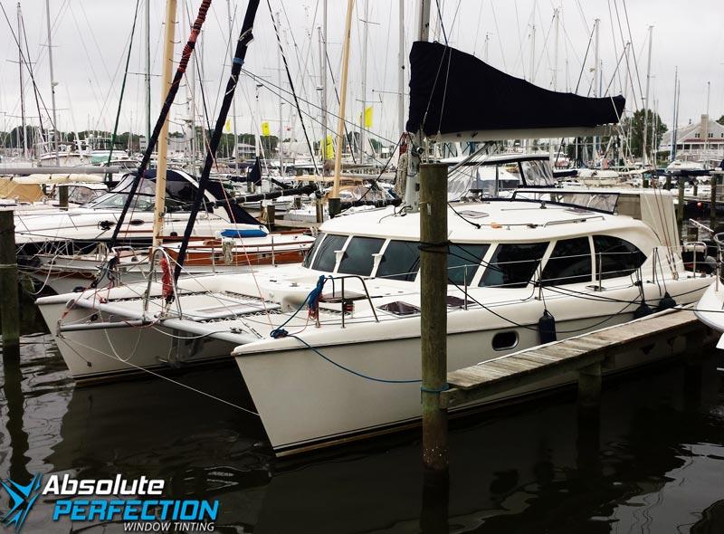 boat window tint - boat window film - boat window tinting - boat tint - window tint for boats - Baltimore Maryland - Annapolis - Washington DC - Chesapeake1