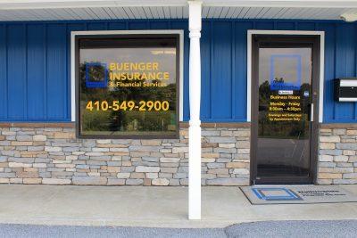 Buenger Insurance Storefront Lettering