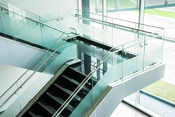 Decorative Glass Film on Staircase Railings