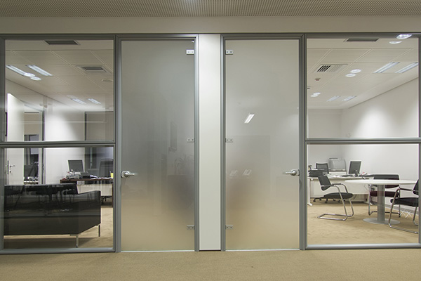 Frosted Window Film on Office Doors