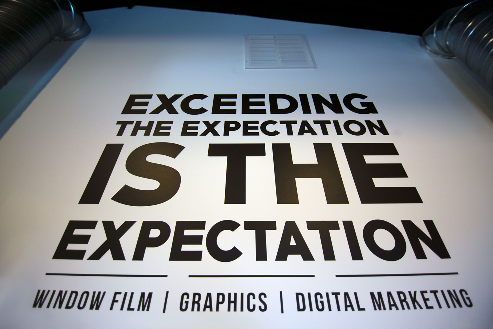 Exceeding the expectation is the expectation