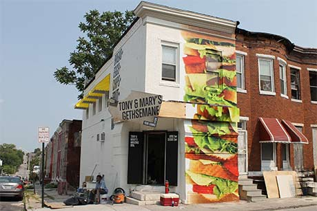 Maryland exterior wall mural graphic design