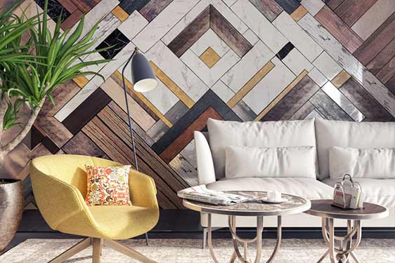 home interior patterned wall mural