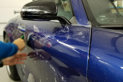 click benefit paint protection film in sykesville md