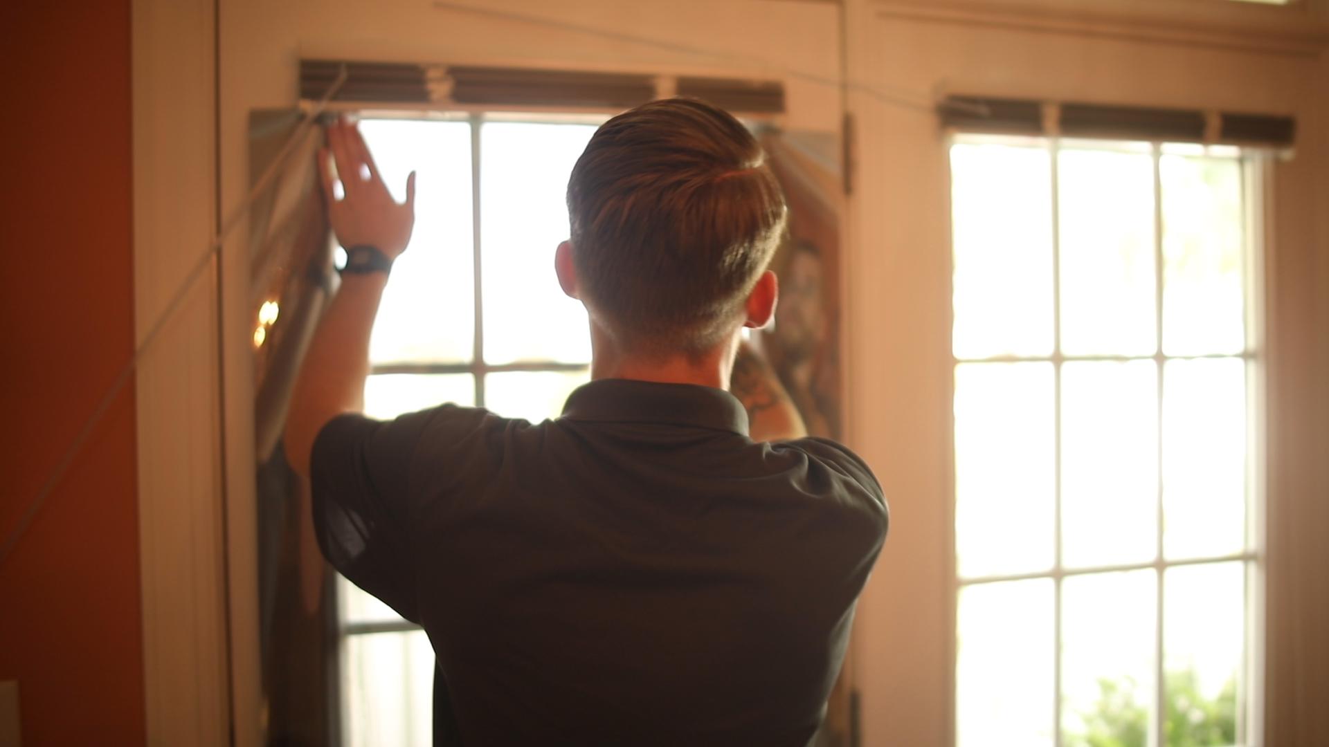 AP Installer Tints Residential Window